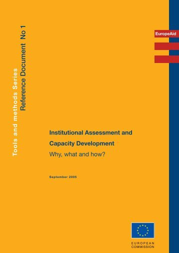 Institutional Assessment and Capacity Development - DeLoG