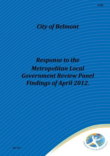 City of Belmont Response to the Metropolitan Local Government ...