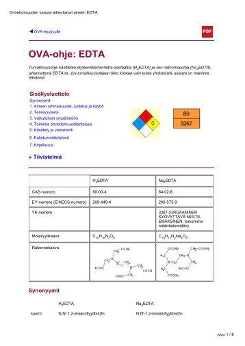 OVA-ohje: EDTA - Työterveyslaitos