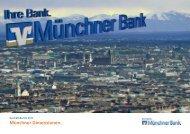 Geschäftsbericht Geschäftsjahr 2010 - Münchner Bank eG