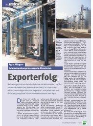 Exporterfolg - AGRE Kompressoren