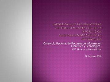 Consorcio Nal. de Recursos de Inf. C y T - Páginas Personales UNAM