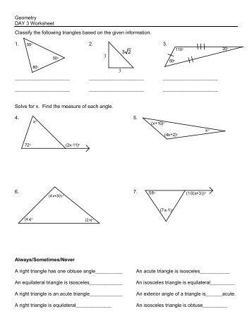 4 classifying triangles kuta software. Black Bedroom Furniture Sets. Home Design Ideas