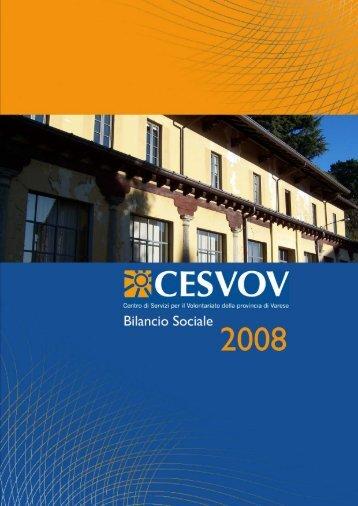 Bilancio sociale 2008 - Cesvov
