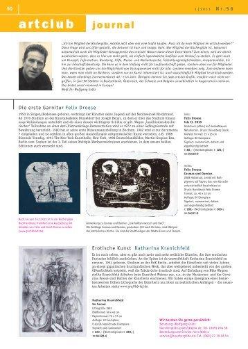 Die erste Garnitur Felix Droese - Der Frankfurter Grafikbrief