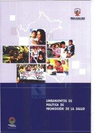 lINEAMIENTOS DE POLITICA DE PROMOCIÓN DE I.A SALUD