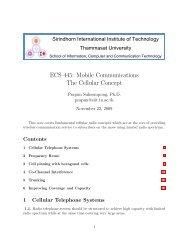 ECS 445: Mobile Communications The Cellular Concept