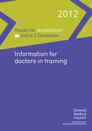 Information for doctors in training