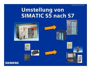 Umstellung von SIMATIC S5 nach S7