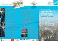 Flyer zu den Ausstellungen - Grafschaftsmuseum