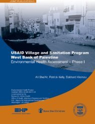 USAID Village and Sanitation Program West Bank of Palestine