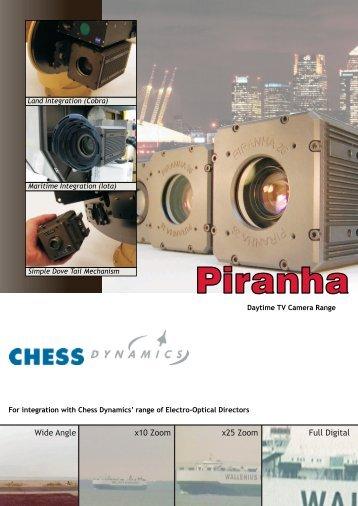 Piranha TV Camera Datasheet PDF - Chess Dynamics