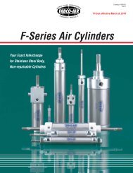 F-Series Air Cylinders - Fabco-Air, Inc.