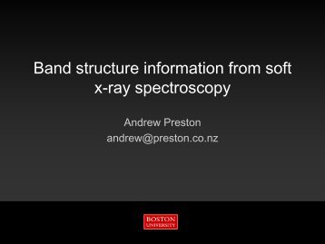 Band structure information from soft x-ray spectroscopy