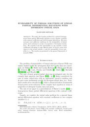 SUMMABILITY OF FORMAL SOLUTIONS OF LINEAR PARTIAL ...