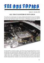 all that glisters is not gold - Rolls-Royce Owners' Club of Australia