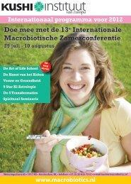 Programma voorjaar en zomer 2012