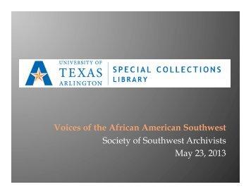 Brenda McClurkin - Society of Southwest Archivists