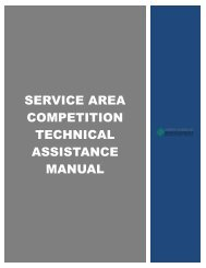 Service area competition technical assistance Manual