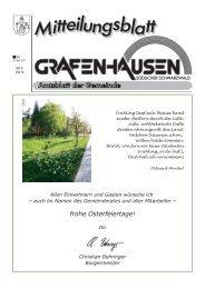frohe Osterfeiertage! - Gemeinde Grafenhausen