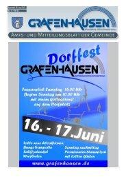 Mitteilungsblatt Nr. 12, KW 23 - Gemeinde Grafenhausen