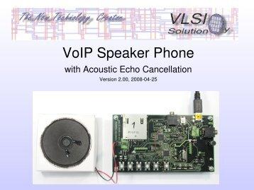 VoIP Speaker Phone