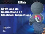 NFPA and its Implications on Electrical Inspections - UE Systems