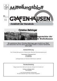 neuer Bürgermeister der Gemeinde Grafenhausen