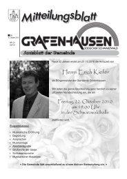 Herrn Erich Kiefer - Gemeinde Grafenhausen