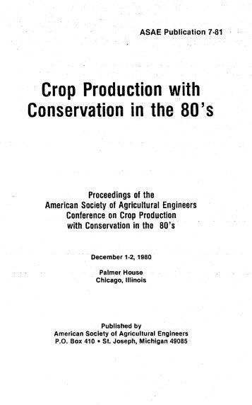 Conservation in the - USDA-ARS Wind Erosion Research Unit