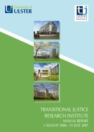 transitional justice research institute - University of Ulster