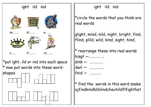 Phonics Worksheets Teaching Ideas
