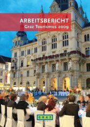 Arbeitsbericht 2009 (3 MB) - Graz Tourismus