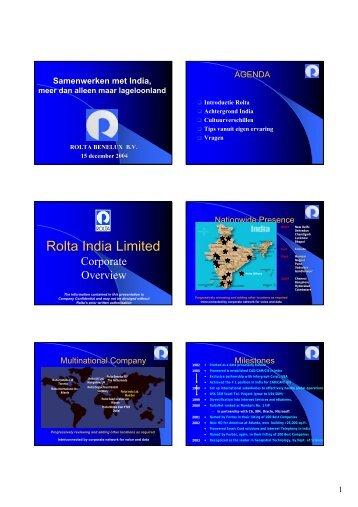 Rolta India Limited - Inter-/Actief