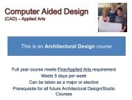 Computer Aided Design (CAD) –Practical Arts