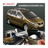 ALHAMBRA ACCESSORIES 2012 - Grants-SEAT