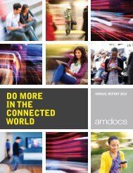 DO MORE IN THE CONNECTED WORLD - Amdocs