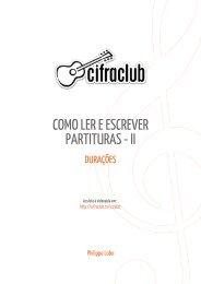 COMO LER E ESCREVER PARTITURAS - II - Cifra Club