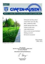 Änderung der DRK-Rufnummer - Gemeinde Grafenhausen