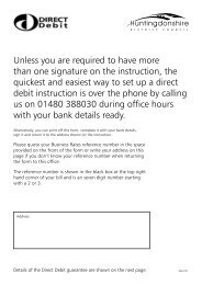 Business Rates Direct Debit Mandate - Huntingdonshire District ...