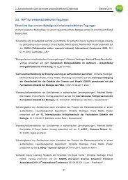 3.5. KiP2 auf wissenschaftlichen Tagungen Übersicht über unsere ...