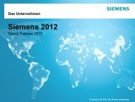Siemens 2012 Stand: Dezember 2011