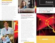 Biomedical Engineering and Bionanotechnology ... - Indiana CTSI