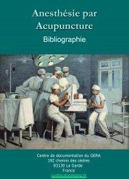 Anesthésie par acupuncture
