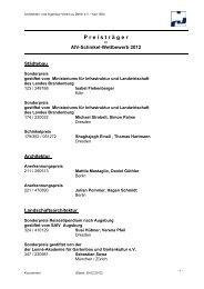 P r e i s t r ä g e r - Architekten- und Ingenieur-Verein zu Berlin eV