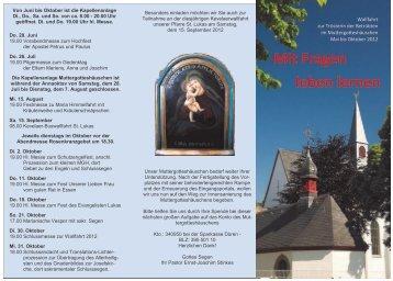 Mit Fragen leben lernen - St. Lukas