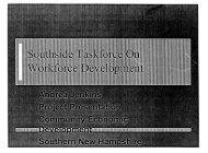 Southside taskforce on workforce development - SNHU Academic ...
