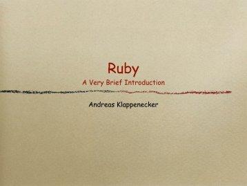 A Very Brief Introduction Andreas Klappenecker - TAMU Computer ...