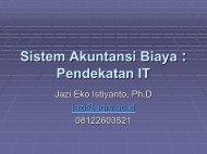management - Prof. Jazi Eko Istiyanto - Universitas Gadjah Mada