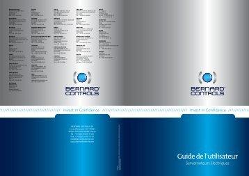 Guide de l'utilisateur - Bernard Controls